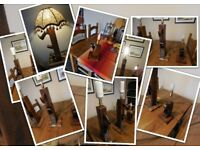 Craftman's smoothing plane table lamp upcycled