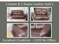 Sofas - Excellent Condition