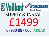 GAS BOILER SUPPLY AND INSTALL, VAILLANT or WORCESTER, Megaflo, GAS SAFE HEATING & PLUMBING, DRIANAGE