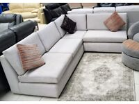 NEW ex-display designer grey corner sofa (left or right) - **BARGAIN