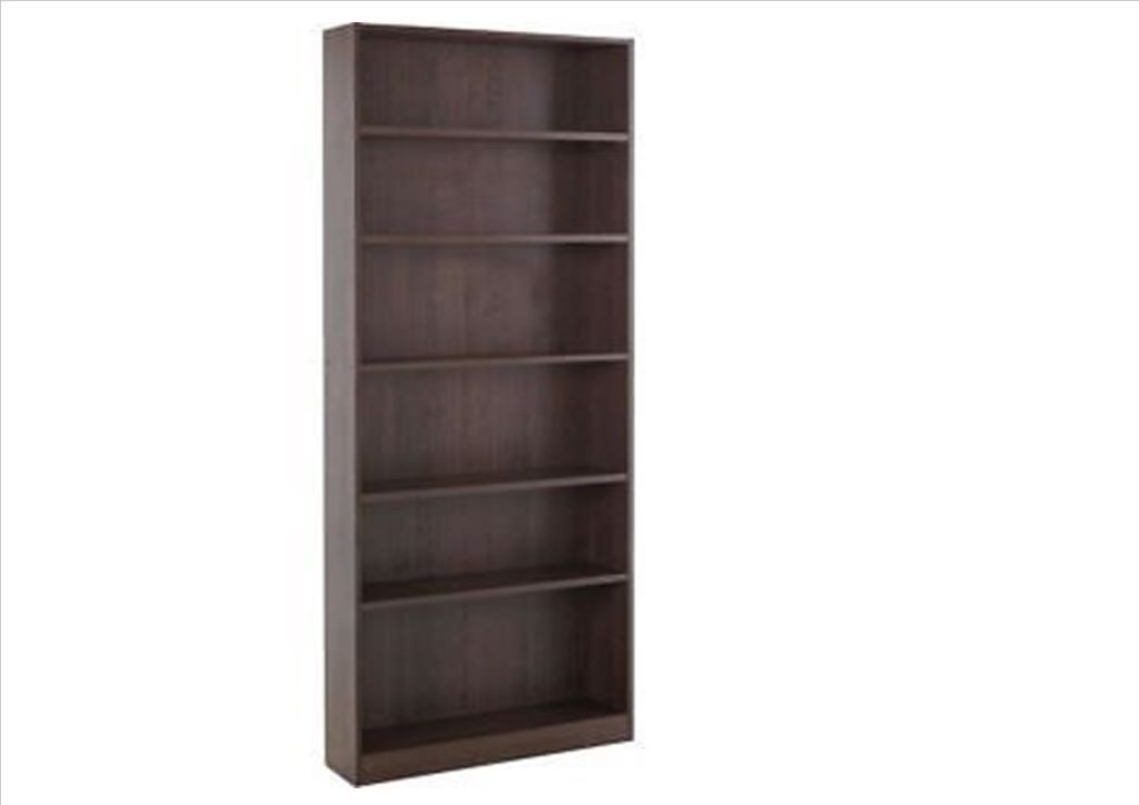 Contemporary adjustable 5 shelf tall 39 maine 39 bookcase for Brusali bookcase