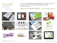 GRAPHIC DESIGNER available (for private projects) * FREE ADVICE + QUOTES * Serving LONDON + UK