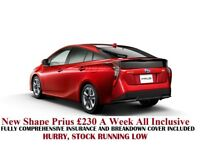 Uber approved Toyota Prius from £210-£230 pw, /PCO Reg. car hire /