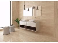 Glossy Wood Affect Wall Tiles (Norge Natura Glossy Wood Birch) £35 Easy Bathrooms selling £69.99 psm