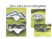 Fibreglass pond 100 gallon