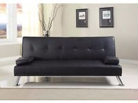 Sofa Bed Modern Faux Leather Style
