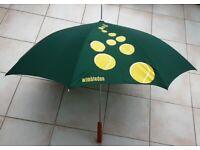 2 x Umbrella ¾ size Tennis Umbrella Spring Loaded New Umbrella