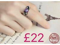 Sterling silver and mystic rainbow topaz ring - New