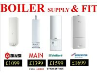 combi BOILER Installation,GAS SAFE Heating,VAILLANT, WORCESTER, GAS back boiler & cylinders removed