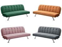 Modern, velvet sofa sofa bed, chrome legs, four colours