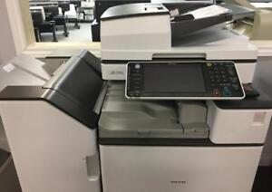 Ricoh Newer Model MP C5503 5503 Color Copier Laser Printer Finisher 12x18 Repossessed Only 2505 Very Low Page Count NEW