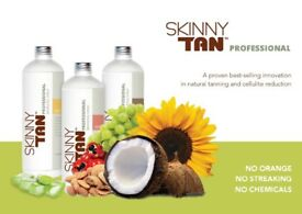 Bronzed beauty Skinny tan spray tan