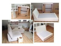 free to creative crafter : ikea KIVIK chaise longue, and one-seat section, BASES ONLY :