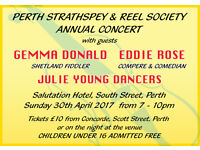 Fiddle Orchestra Concert with Gemma Donald & Eddie Rose - Salutation Hotel Perth - Sunday 30th April