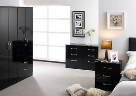 Roma High Gloss Bedroom Furniture **Home Delivery Available**