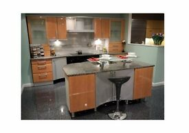 Modern German Kuhlmann Ex Display Kitchen, Granite worktops