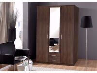 SAME DAY FAST DELIVERY== BRAND NEW GERMAN 3 DOOR OSAKA WARDROBE -- cheapest price