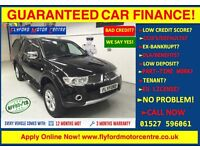 2013 MITSUBISHI L200 BARBAR-N LB DCB DI-D BLACK - GUARANTEED CAR FINANCE CREDIT - FINANCE £89 P/WEEK