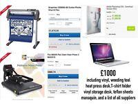 heat press,cutter,macbook pro