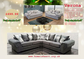 VERONA SOFA'S ON CHRISTMAS DEAL DISCOUNTS *****UK DELIVERY AVAILABLE BEFORE CHRISTMAS