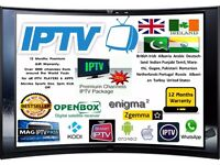 12 MONTHS IPTV WARRANTY GIFT ANDORID DEVICES,SMART TV, MAG BOX, ZGEMMA,OPENBOX/SKYBOX UK NO1