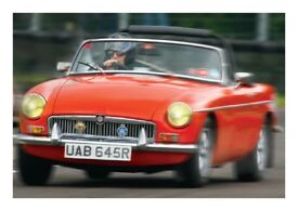 1976 MGB roadster, chrome bumper conversion, Oselli Stage 2, fast-road engine