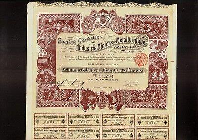 RUSSIA Soc. Generale de l'Industrie Miniere Metallurgique en Russie Omnium 1897