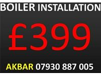 £399 BOILER INSTALLATION,REPLACEMENT,vaillant,worcester,IDEAL, cooker,hob ,Megaflo Installation,GAS