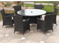 ** MUST SEE** Garden Furniture. Practically perfect in every way.....Rattan 6 seater dining set.