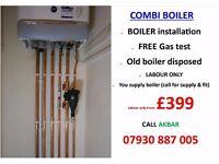 £399 combi boiler installation,replacement,UNDERFLOOR HEATING,Back boiler removd,POWERFLUSH,GAS SAFE