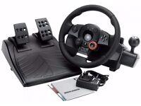 GT logitech Wheel and Pedals