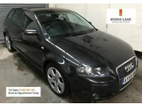 2005 55 Audi A3 Sport 2.0 Tdi Auto Dsg Black Leather Paddle Shift Bluetooth Air con 3 Month Warranty