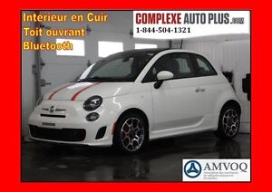 2013 Fiat 500 Sport Turbo *Super look! Cuir,Toit pano.