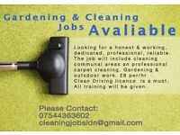 Commercial Cleaning & Gardening Jobs Available £8 p/h London