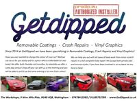 GetDipped: Crash Repair - Removable Coatings - Vinyl Graphics