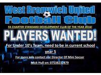 Need Year 5 football players