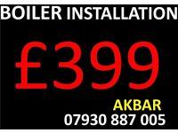 combi boiler installation, MEGAFLO, GAS SAFE UNDER FLOOR HEATING, back boiler removed, cooker HOB