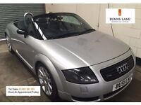 Audi TT Roadster 225 bhp Low MIleage Air Con, Heated Leather, Alloys 3 Month Warranty