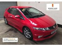 Honda Civic Type R Gt I V-TECH 200Bhp Sat Nav Bluetooth Air Con Cruise Control 3 Month Warranty