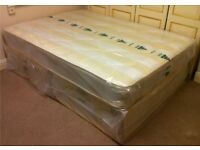 ***New*** Double Divan Bed & Mattress £90, Single Divan Bed & Mattress £70