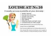 Louise at No.16 Domestic Services ***LIMITED AVAILABILITY***