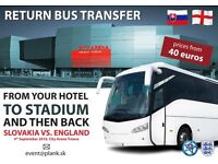 Slovakia vs England 4th September Travel and accommodation and more services...