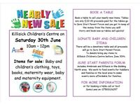 Free Nearly New Sale event!! We still have a few tables left to book for just 10 pounds.