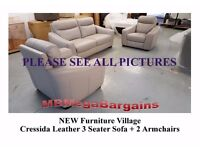 NEW & Ex-Display From ScS, Furniture Village & Ashley Manor LEATHER & FABRIC SOFAS ***CAN DELIVER**