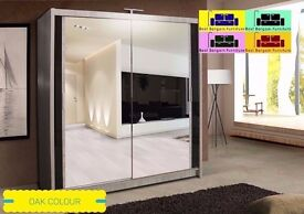 New Modern Chicago Sliding Wardrobe Size 150CM /180CM/203CM/250CM Comes With 5 colors