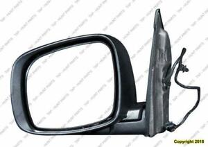 Door Mirror Power Driver Side Heated Textured Chrysler Town & Country 2008-2010