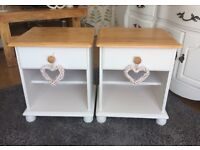 *REDUCED AGAIN* SHABBY CHIC BEDSIDE TABLES
