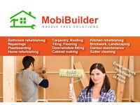 refurbishing, carpentry, joinery, tiling, decorating