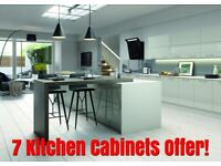 Vivo Gloss 18 mm Thick Slab Door, 7 Cabinets Offer - New - BEST PRICE By Krypton Kitchens