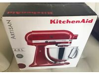 Brand New KitchenAid Artisan Food Mixer 4.8l, BNIB, Imperial Red, No Offers, Camberley or London W1